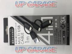 WILLCOM UTT-100C-01BK 4WAY tough cable 1m BK