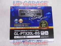 ProSelect GL-PTX20L-BS gel battery YTX20L-BS compatible
