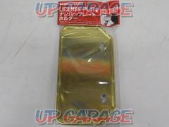 NBS License plate base 50 - 125 cc Mountain type gold Item No .: 900114