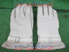 INDIAN (Indian) Leather Winter Gloves White LL size