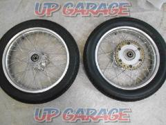 YAMAHA genuine Wheel Set before and after