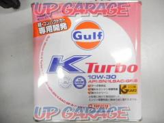 GT106-177 ● unused ● Gulf engine oil K TURBO 1 cans