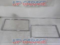 Unknown Manufacturer Plated tone License plate cosmetic cover Set before and after