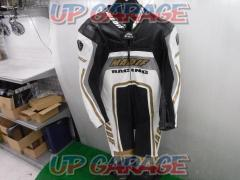 MADIF Size: XLW Leather one piece racing suit Black / white x gold