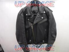 SRP W-breasted leather jacket Size: LL