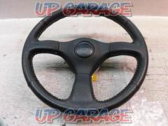 Unknown Manufacturer BNR32 Skyline GT-R late genuine respread punching leather White stitch steering