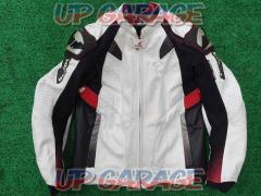 RS Taichi RSJ825 GMX Motion Ben Ted leather jacket White / Red 3XL size