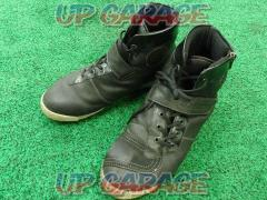 56 design Leather riding shoes black L size