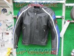 HONNDA (Honda) Punching leather jacket Black / Bull- / White L size