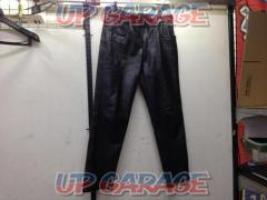 Unknown Manufacturer Boot-cut leather pants