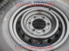 Toyota original (TOYOTA) 200 series Hiace 5 type genuine steel wheel + DUNLOP SP175N