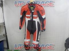 Size: 46 / S BERIK Punching leather racing suit Red x black