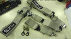 SPARCO 4X4 seat belt 3 inches Turnbuckle Silver 4 split