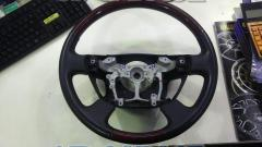 Toyota (TOYOTA) Genuine wood combination steering wheel GS120-03360 Red tea grain x gray leather VELLFIRE / 20 system the previous fiscal year