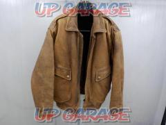 Size: M PENON Leather jacket Brown