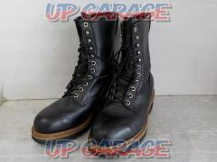 Size: US7.5 Harley Leather boots black String lace type No side shipper