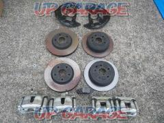 130 series mark X before and after genuine brake + Rotor Set