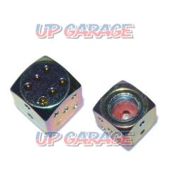 \\ 499- (excluding tax) AQUA CLAZE Color air valve cap Dice Titanium tone 9052-1