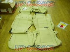 Unused ELVEN Leather seat cover BROS.Crazzio ivory 12 split Honda (HONDA) N-BOX / JF 3 JF 4
