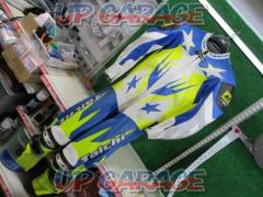 RSTaichi (RS Taichi) Punching mesh racing suit Yellow / Blue L size