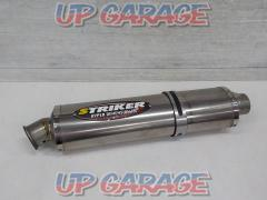 STRIKER (striker) Racing Concept Oval slip-on silencer [General purpose / Φ60.5]