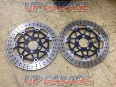 Eight KAWASAKI Genuine front disc rotor left right set