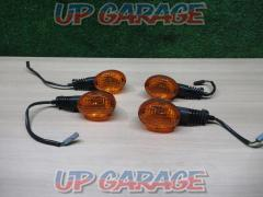 Genuine turn signal 4 pieces SET D Tracker 125 (2009) removed KAWASAKI (Kawasaki)