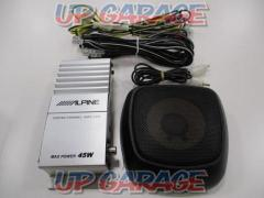 ALPINE SBS-0715 Amplifier attached center speaker (T12405)