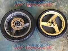 KAWASAKI (Kawasaki) ZZR250 (EX250) genuine Tire / wheel front / rear set + DUNLOP (Dunlop) ARROWMAX