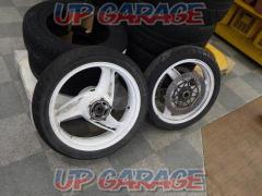 kawasaki ZRX400 original wheel front and back set white