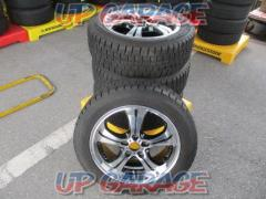 Unknown Manufacturer Twin 5 books Black Polished Wheel + DUNLOP (Dunlop) WINTER MAXX WM01 215 / 55R17