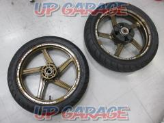 KAWASAKI (Kawasaki) Genuine 5-spoke wheel front and rear set ZEPHYERχ