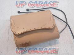 DEGNER (Degner) Leather ETC case (tan) Tie wrap closure