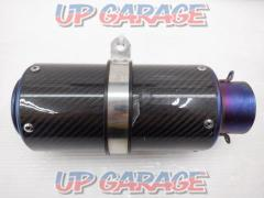 Unknown Manufacturer Short carbon silencer General purpose Drive diameter Φ61-Φ62.5 (large distortion)