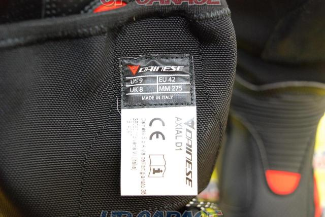 DAINESE AXIAL D1 AIR BOOTS BLACK / FLUO-RED Size EU42-10