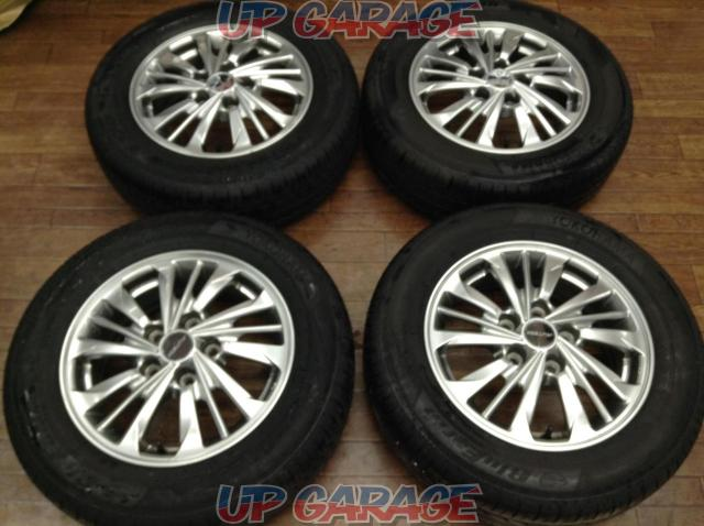 [For genuine diversion and vehicle inspection!] NISSAN C26 Serena AUTECH Rider original wheel + YOKOHAMA BluEarth-02