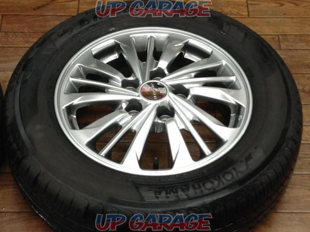 [For genuine diversion and vehicle inspection!] NISSAN C26 Serena AUTECH Rider original wheel + YOKOHAMA BluEarth-04