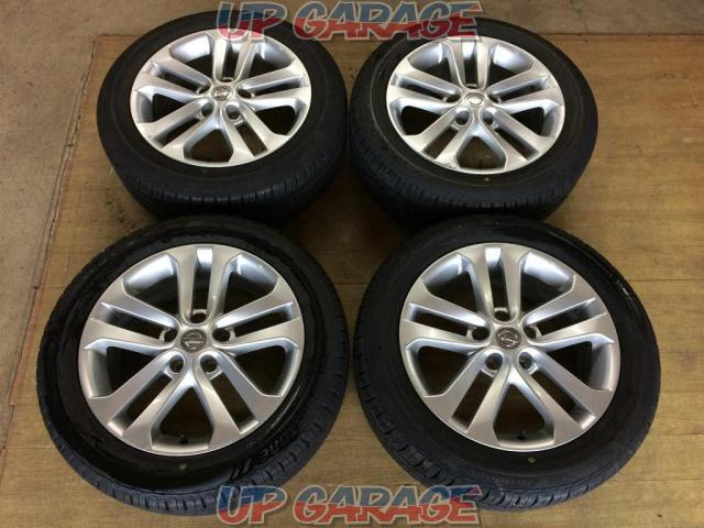 Nissan original (NISSAN) F15 Juke genuine 17-inch aluminum wheels + BRIDGESTONE ECOPIA NH100RV Made in 2017 / NH100 Made in 2018 215 / 55R17 Four-01